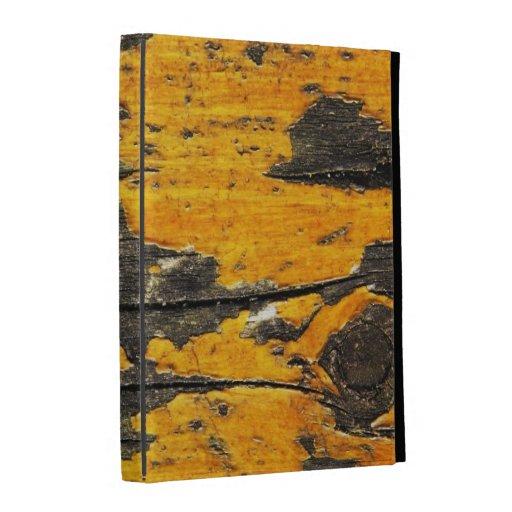 Caso en folio del iPad 3 amarillos viejos de la pi