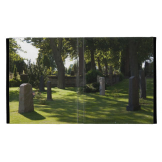 caso en folio del iPad 3 del cementerio