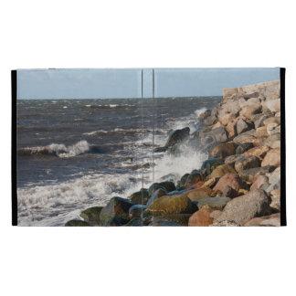 Caso en folio del iPad 3 rocosos de la orilla