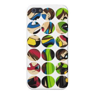 Caso enmascarado del iphone 4 del super héroe iPhone 5 cárcasas