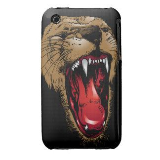 Caso enojado del iPhone 3 de la cara del león iPhone 3 Protector