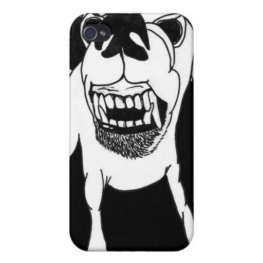 Caso enojado del perro de Iphone 4 iPhone 4/4S Carcasas