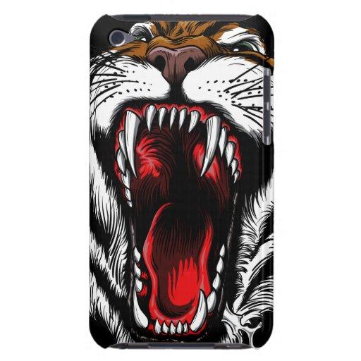 Caso enojado del tacto de iPod de la cara del tigr iPod Touch Case-Mate Cobertura