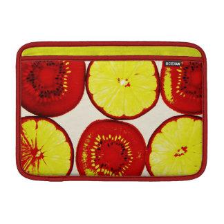 caso enrrollado del arte pop de la fruta del kiwi  fundas macbook air