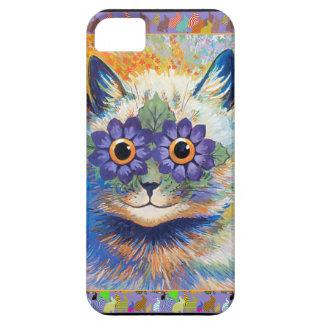 Caso enrrollado del gato del conejito de la flor d iPhone 5 Case-Mate fundas