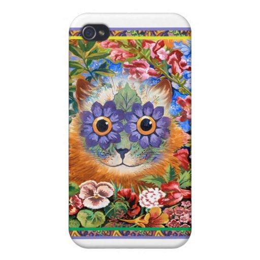 Caso enrrollado del iPhone de la flor de Wain del  iPhone 4/4S Funda