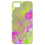caso enrrollado del iphone de la orquídea iPhone 5 cárcasa