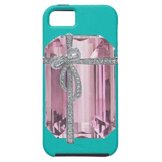 Caso esmeralda rosado del iPhone 5 de los iPhone 5 Carcasa