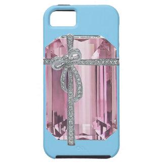 Caso esmeralda rosado del iPhone 5 de los iPhone 5 Funda