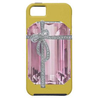 Caso esmeralda rosado del iPhone 5 de los iPhone 5 Fundas