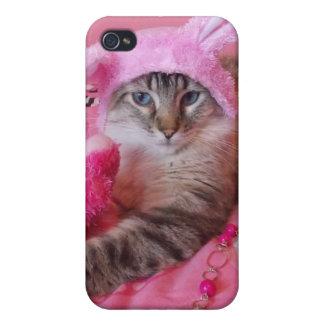 caso especial somebunny del iphone del gatito iPhone 4/4S carcasas