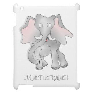 Caso espigado grande del ipad del elefante