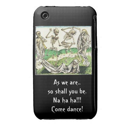 Caso esquelético del ipad de la danza iPhone 3 funda
