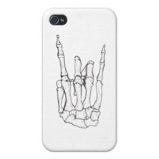 caso esquelético punky del iphone 4 iPhone 4/4S carcasas