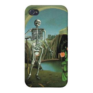 Caso esquelético surrealista de Iphone 4 iPhone 4/4S Fundas
