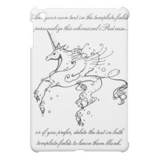 Caso estilizado del iPad del unicornio