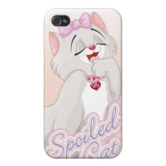 Caso estropeado del iPhone 4 del gato iPhone 4 Cárcasa