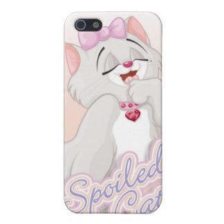 Caso estropeado del iPhone 4 del gato iPhone 5 Carcasas
