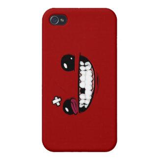 Caso estupendo del iPhone del muchacho de la carne iPhone 4 Fundas