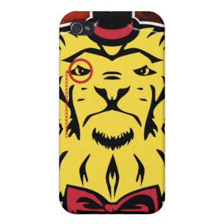 Caso excelente de Iphone de los leones iPhone 4 Funda