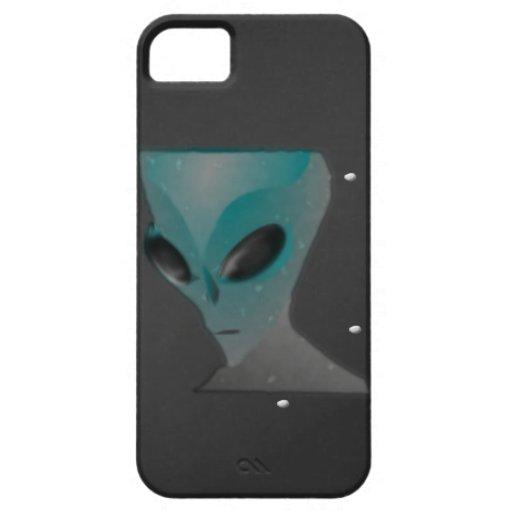 Caso extranjero azul gris del teléfono iPhone 5 Case-Mate funda