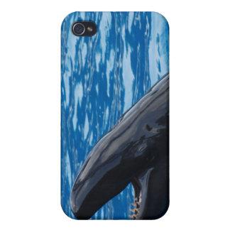 Caso falso del iPhone 4 de la orca iPhone 4/4S Fundas