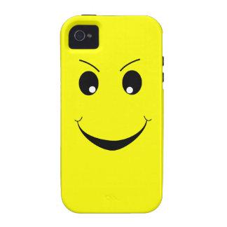 Caso feliz dañoso del iPhone 4 de la cara iPhone 4 Funda