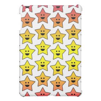 Caso feliz de Ipad de las estrellas (blanco)
