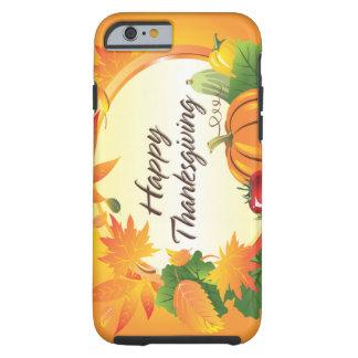 Caso feliz de la acción de gracias 5 funda resistente iPhone 6