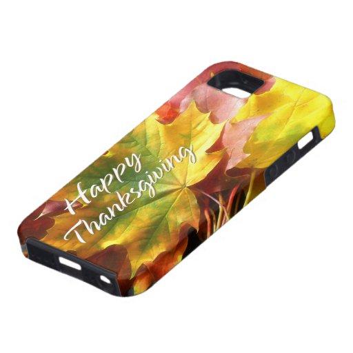 Caso feliz de la acción de gracias 7 iPhone 5 Case-Mate funda