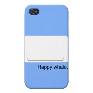 caso feliz de la ballena iPhone4 iPhone 4 Carcasas