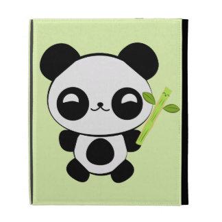 Caso feliz del iPad de la panda del bebé