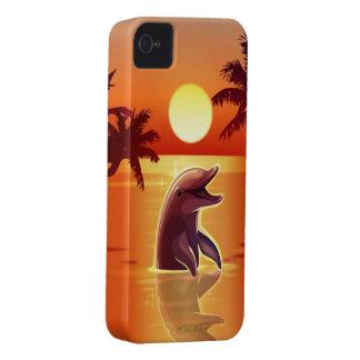 Caso feliz del iPhone 4 del delfín iPhone 4 Case-Mate Carcasa