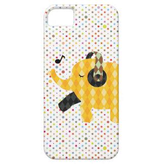 Caso feliz del iPhone 5 del elefante del baile de iPhone 5 Cárcasa