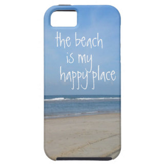 Caso feliz del iphone 5 del lugar de la playa iPhone 5 fundas