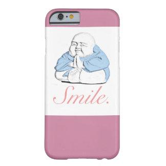 """Caso feliz del iPhone 6/6s de la """"sonrisa"""" de Buda Funda Barely There iPhone 6"""