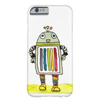 Caso feliz del iPhone 6/6s del robot del arco iris Funda De iPhone 6 Barely There