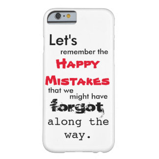 Caso feliz del iPhone 6 de las letras de los Funda Barely There iPhone 6
