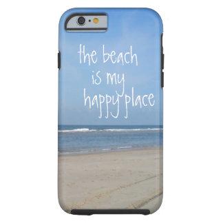 Caso feliz del iPhone 6 del lugar de la playa Funda Para iPhone 6 Tough