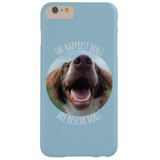 Caso feliz del iPhone 6 del perro del rescate Funda De iPhone 6 Plus Barely There