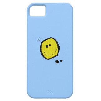caso feliz surrealista del iphone de la cara iPhone 5 Case-Mate carcasas
