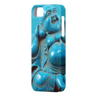 Caso feliz tallado turquesa de Iphone de la estatu iPhone 5 Protectores