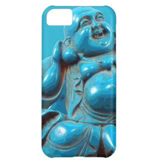 Caso feliz tallado turquesa de Iphone de la estatu Funda Para iPhone 5C