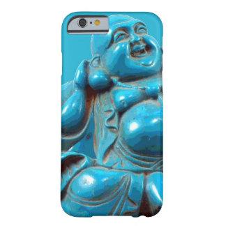 Caso feliz tallado turquesa del iPhone 6 de la Funda Barely There iPhone 6