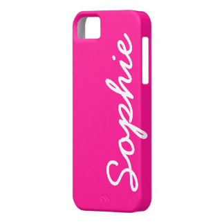 Caso femenino adaptable de color rosa oscuro del iPhone 5 carcasa