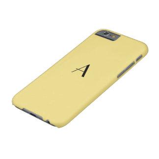 Caso femenino del amarillo iPhone6 del lino con el Funda Para iPhone 6 Barely There