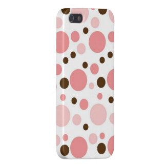 Caso femenino del iPhone 5 de los lunares iPhone 5 Fundas