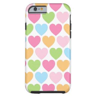 Caso femenino del iPhone 6 de los corazones lindos