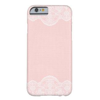 Caso femenino del iPhone 6 del cordón floral Funda De iPhone 6 Barely There
