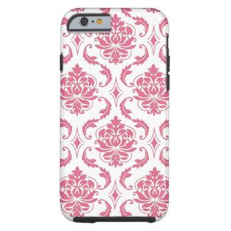 Caso femenino del iPhone 6 del damasco blanco Funda Resistente iPhone 6